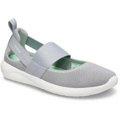 Crocs Womens LiteRide Mary Jane Sports Pumps - Grey White