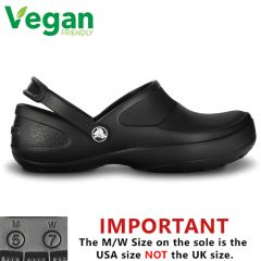 Crocs Womens Mercy Work Vegan Work Clogs Shoes - Black Black