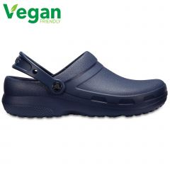 Crocs Mens Womens Specialist II Clogs Vegan Slip On Work Shoes - Navy