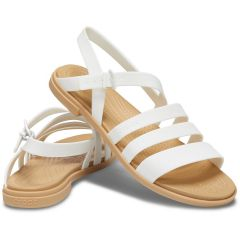 Crocs Womens Tulum Sandal - White Tan