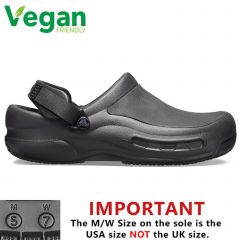 Crocs Mens Womens Bistro Pro Literide Vegan Clogs - Black
