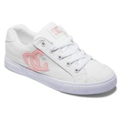 DC Womens Chelsea Trainers White Pink White