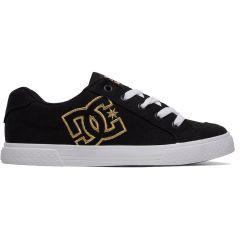 DC Womens Chelsea TX SE Skate Shoes - Black Gold