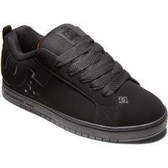 DC Mens Court Graffik Skate Shoes - Black Red