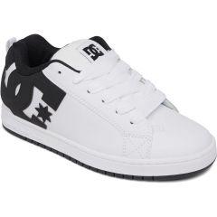 DC Mens Court Graffik Skate Shoes - White Black Black