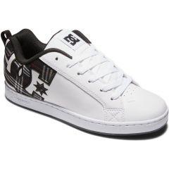 DC Womens Court Graffik Skate Shoes - White Plaid Black
