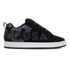 DC Mens Court Graffik Skate Shoes - Black Grey Black