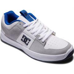 DC Mens Lynx Zero Leather Skate Shoes - White Blue Grey