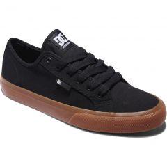 DC Mens Manual Canvas Skate Shoes - Black Gum