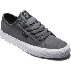 DC Mens Manual Canvas Skate Shoes - Grey Gum