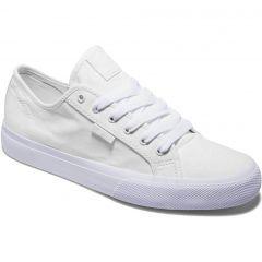 DC Mens Manual Canvas Skate Shoes - White