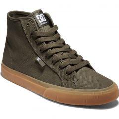 DC Mens Manual Hi Shoes - Olive Green