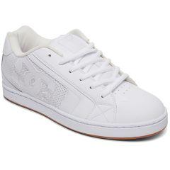 DC Mens Net SE Skate Shoes - White White Gum