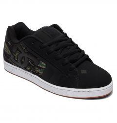 DC Mens Net SE Skate Shoes - Black Camo