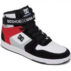 DC Mens Pensford Hi Trainers - Black Grey Red