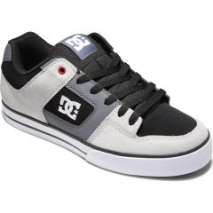 DC Mens Pure Skate Shoes - Black Grey Red