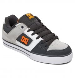 DC Mens Pure SE Skate Shoes - Dark Grey Orange