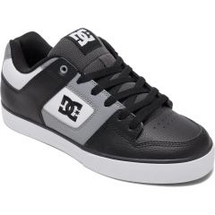 DC Mens Pure Skate Shoes - White Grey White