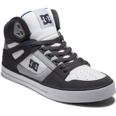 DC Mens Pure High Top Trainers - Grey White Blue