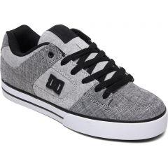 DC Mens Pure TX SE Skate Shoes - Grey White Grey