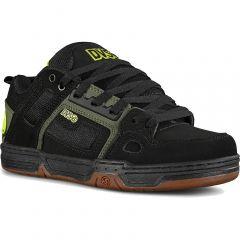 DVS Mens Comanche Skate Shoes - Black Olive Gum Nubuck