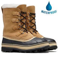 Sorel Mens Caribou Waterproof Boots - Buff
