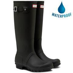 Hunter Womens Original Tall Wellies Rain Boots - Black
