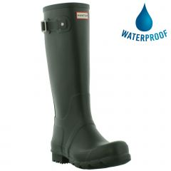 Hunter Womens Original Tall Wellies Rain Boots - Dark Olive