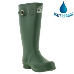Woodland Mens Womens Wellies Wide Fit Wellington Boots - Green