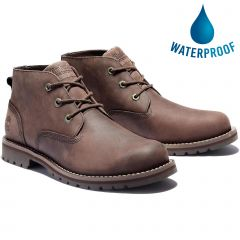 Timberland Mens Larchmont Waterproof Leather Chukka Boots - Dark Brown - A2NW2