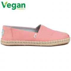 Toms Womens Classic Espadrille Vegan Shoes - Plant Dyed Pink