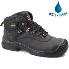 Grafters Mens Waterproof Steel Toe Cap Safety Boots - Black