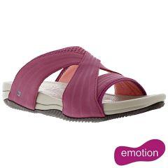 Joya Womens Bali Slide Sandals - Cherry