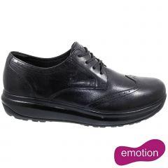 Joya Mens Paso Fino Leather Formal Shoes - Black