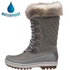 Helly Hansen Womens Garibaldi VL Waterproof Snow Boots - Light Grey Alloy