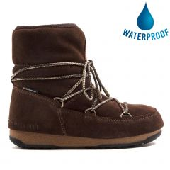 Moon Boots Womens WE Low Suede Waterproof Boots - Licorice