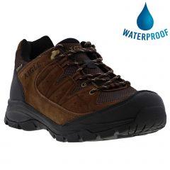 Aigle Mens Vedur Low Waterproof Walking Hiking Shoes Trainers - Dark Brown