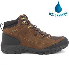 Aigle Mens Vedur Mid Waterproof Walking Hiking Boots - Dark Brown