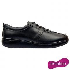 Joya Womens Emma Emotion Leather Lace Up Shoes - Black