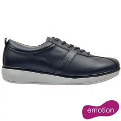 Joya Womens Emma Emotion Leather Lace Up Shoes - Navy