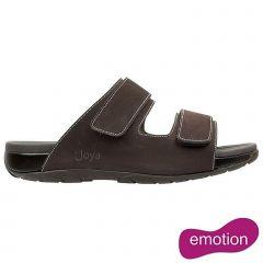 Joya Mens Max II Emotion Leather Slide Sandals - Brown