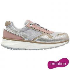 Joya Womens Tina II Emotion Leather Trainers Shoes - Silver Pink