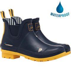 Joules Womens Wellibob Short Wellies Rain Boots - Navy Ducks