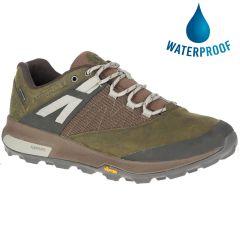 Merrell Mens Zion GTX Waterproof Walking Hiking Shoes - Dark Olive
