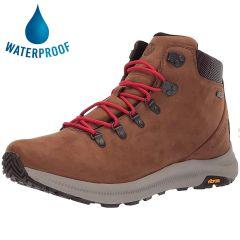 Merrell Mens Ontario Mid Waterproof Boots - Dark Earth