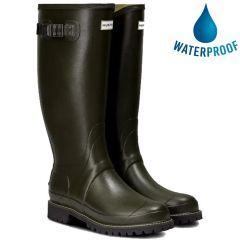 Hunter Mens Balmoral Wide Fit Wellington Boots - Dark Olive