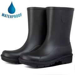 Fitflop Womens Wonderwelly Short Wellington Boots - All Black