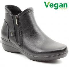 Heavenly Feet Womens Venice Vegan Boots - Black