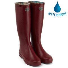 Le Chameau Womens Iris Wellington Boots - Rouge