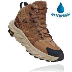 Hoka One One Mens Anacapa Mid GTX Waterproof Walking Boots - Otter Black